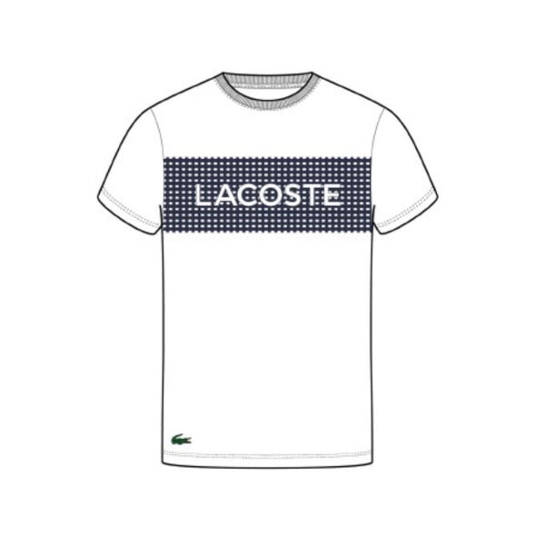 Lacoste Croc Graphic Tee (White/Blue)