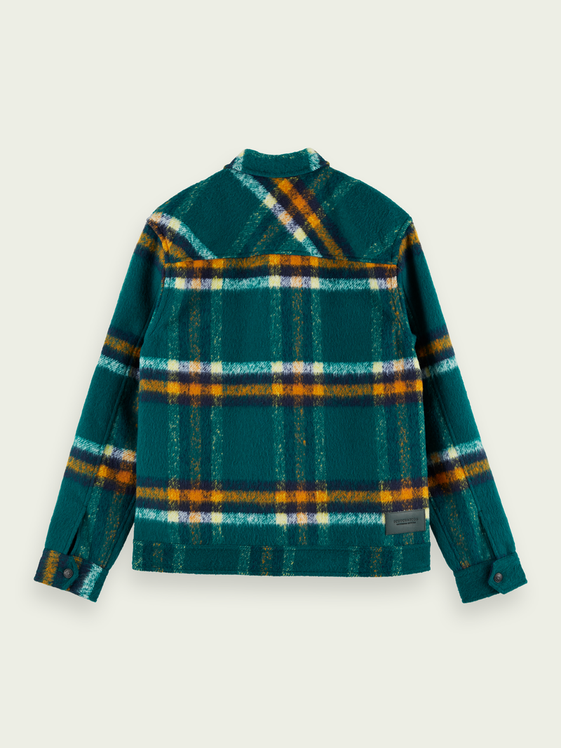 Scotch & Soda-Checked Wool Blend Trucker Jacket