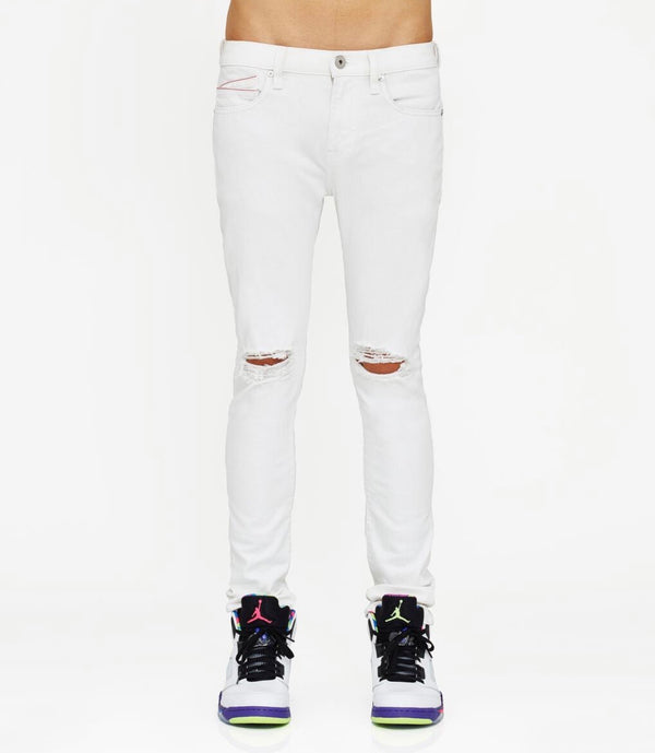Cult Of Individuality White Skinny Stretch Jeans