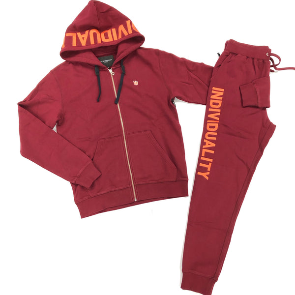 Cult Of Individuality Burgundy Set