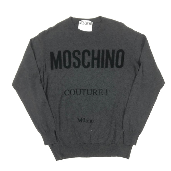 Cotton Logo Sweater (Grey)
