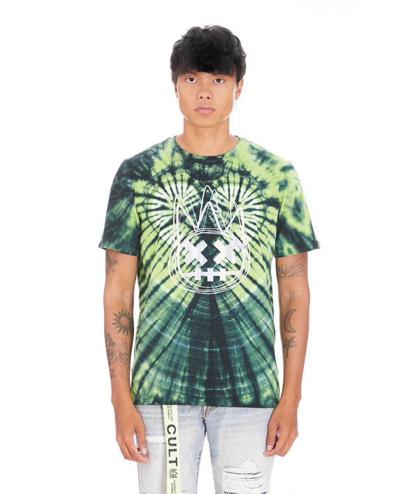 Cult Green Tie Dye Irridescent Short Sleeve Tee
