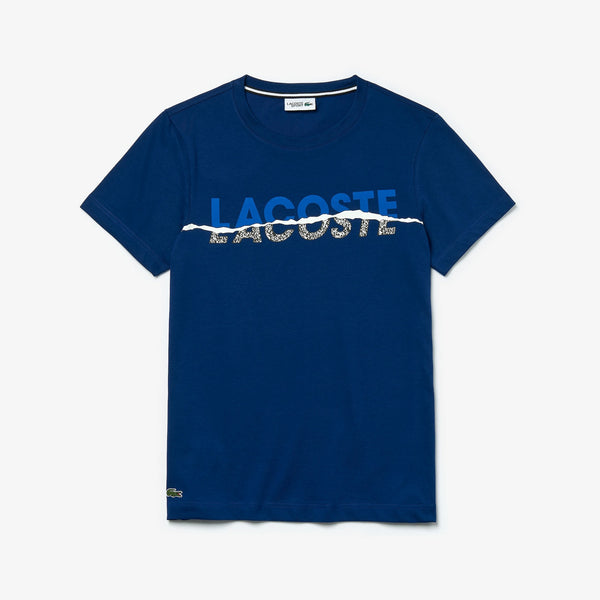 Lacoste Tear Graphic Tee (Navy/Blue)