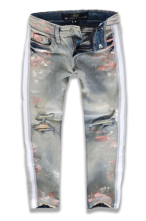 Jordan Craig Kids Striped Jeans (Antique Blush)