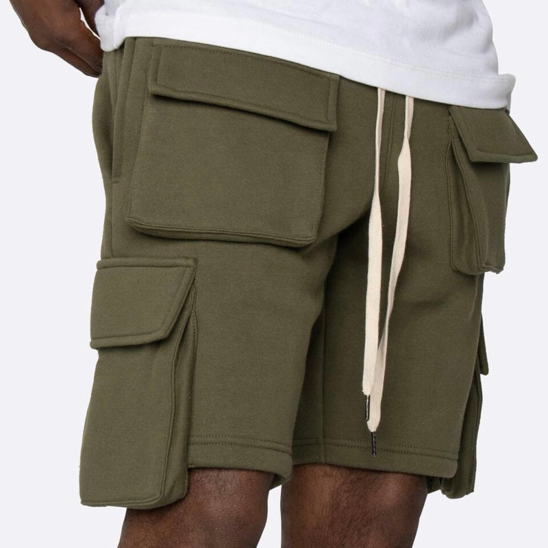 Eptm Fleece Olive Cargo Shorts
