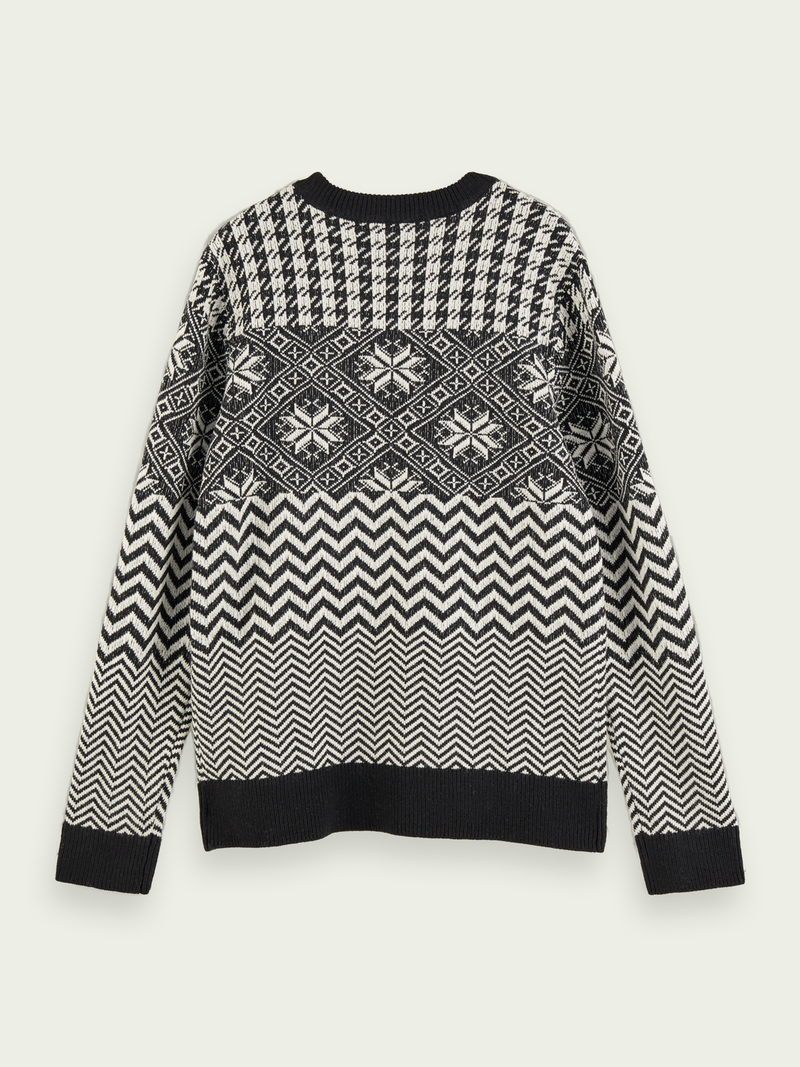 Scotch & Soda-Lightweight Wool-Blend Patterned Sweater
