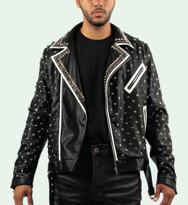 Majestik Skull Rider Leather Jacket