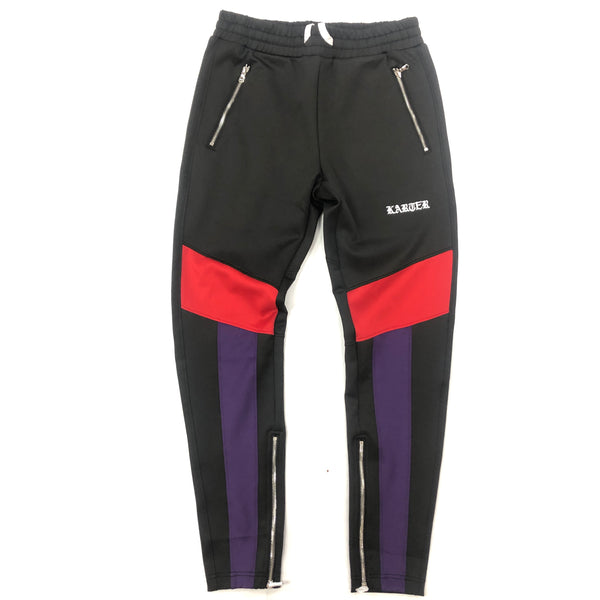 Karter Red/Purple Roosevelt Track Pants
