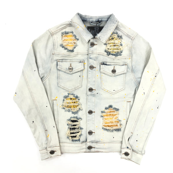 Denim City The Crystal Denim Jacket (Yellow)