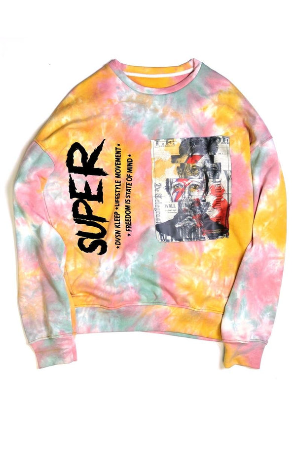 Kleep Tie Dye Sweater (Pink)