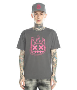 Cult Of Individuality Scribbled Shimuchan Logo Tee (Charcoal)