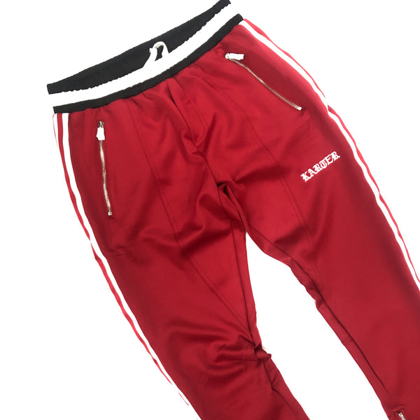 Karter Red Stripe Track Pants (Red)
