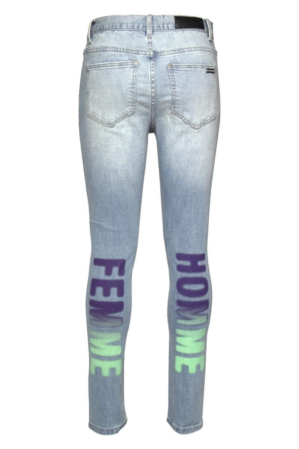 Homme Femme-Airbrushed Script (Purple/Green)