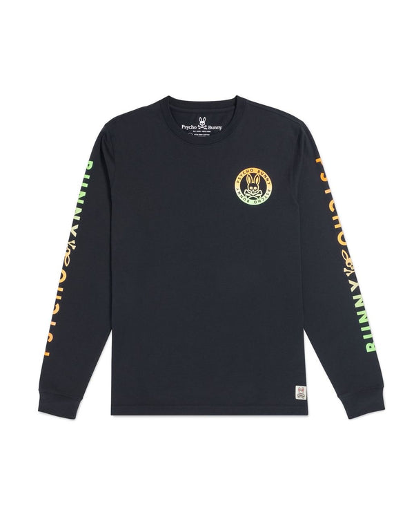 Psycho Bunny Steward Long Sleeve Tee (Navy)