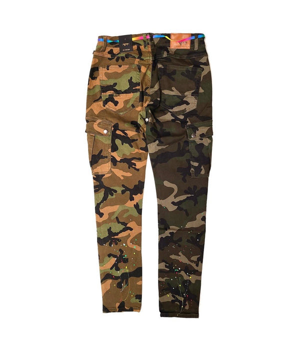 Kleep Men's Two Tone Camo Jeans