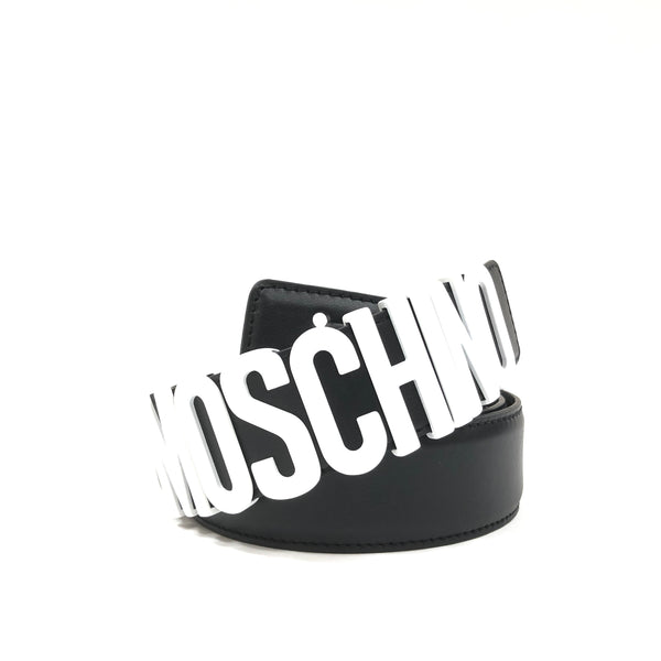 Belt In Leather With Logo (White/Black)