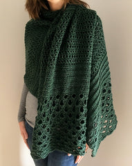 Grand in Green Crochet Wrap