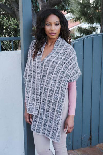 6001E Placid & Icon Slipped Rib Cable Scarf/Wrap