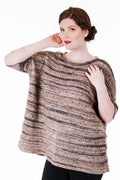 6100-D  Tiger & Icon Striped Wide Pullover Pattern - Trendsetter