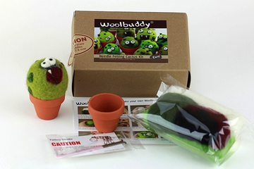 Cactus Monster Kit Needle Felting Woolbuddy,