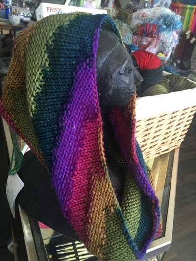Color Stacked Cowl Pattern by Prism Arts