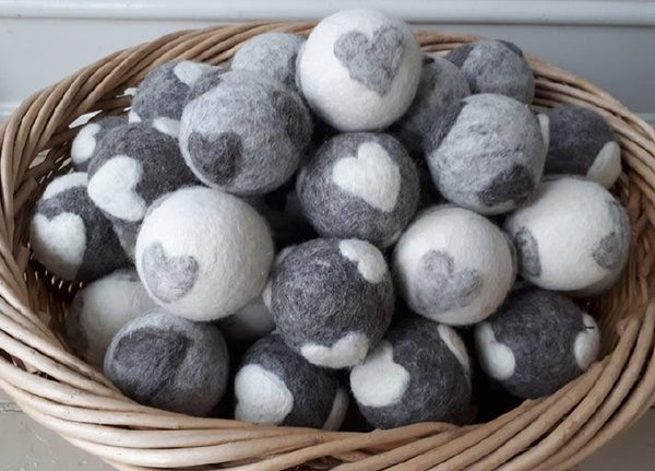 Dryer Balls with Heart Shapes - Fair Trade