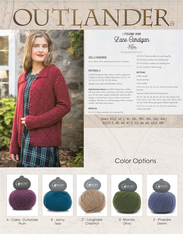 I Found Him Cashmere Lace Cardigan - Outlander