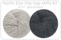 North Star Flip-Flop Mitts Kit 1 - Grey and Black