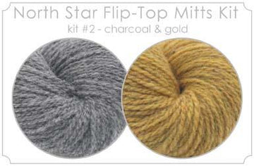 North Star Flip-Flop Mitts Kit  2 - Charcoal and Gold