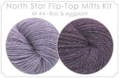 North Star Flip-Flop Mitts Kit  4 - Lilac and Eggplant