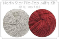North Star Flip-Flop Mitts Kit  5 - Grey and Red
