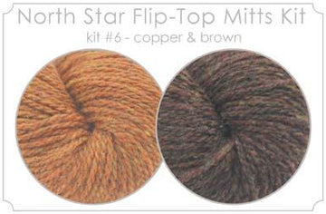 North Star Flip-Flop Mitts Kit  6 - Copper and Brown
