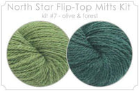 North Star Flip-Flop Mitts Kit  7 - Olive and Forest