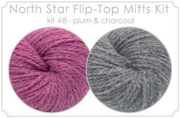 North Star Flip-Flop Mitts Kit  8 - Plum and Charcoal
