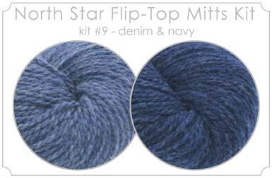 North Star Flip-Flop Mitts Kit  9 - Denim and Navy