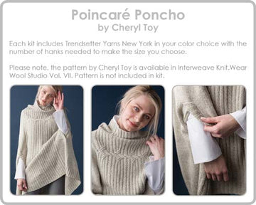 Poincare Poncho Kit LG 10 Denim Melange