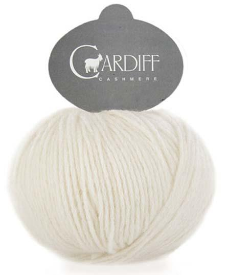 Reversible Cable Cashmere Scarf Kit 501 Neve (ecru)