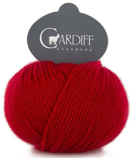 Reversible Cable Cashmere Scarf Kit 564 Gerbera (Red)
