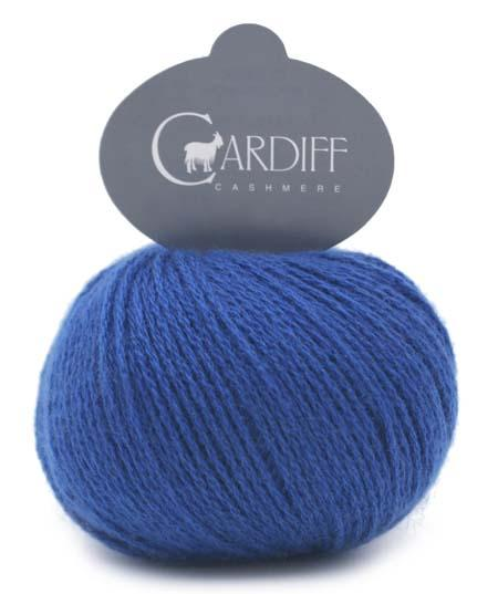 Reversible Cable Cashmere Scarf Kit 592 Regal Blue