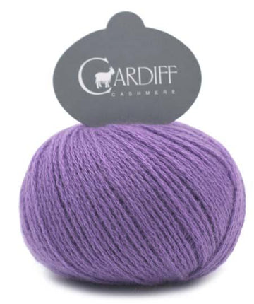 Reversible Cable Cashmere Scarf Kit 593 Purple
