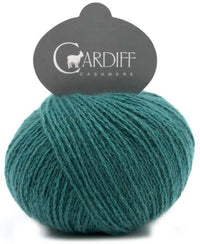 Reversible Cable Cashmere Scarf Kit 610 Bugatti (Teal)