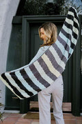 Streamers Arrow Eyelet Striped Wrap