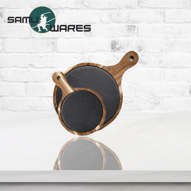 Samu-Kitchen Premium Slate Dinner Plates