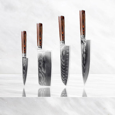 Minamoto Damascus Set - 4 Piece Exquisite Collection