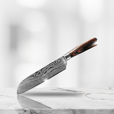 """Ginza"" - Stainless Steel 7"" Santoku Knife"