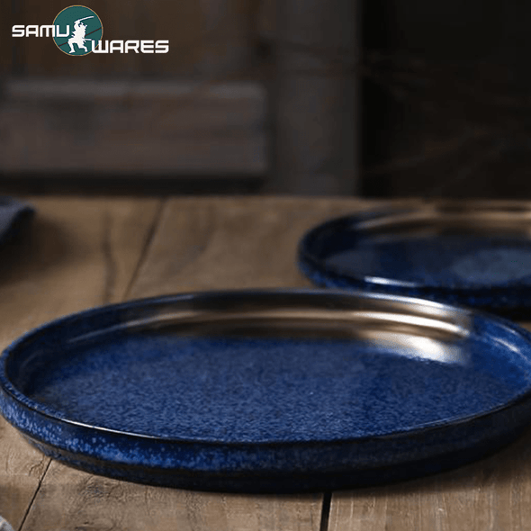 Imperial Samu-Wares Ceramic Tableware (Blue and Gold)