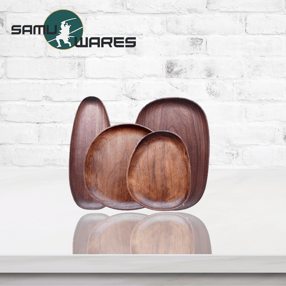 Samu-Kitchen Premium Wood Plate Set