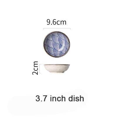 Imperial Glazed Fish Scale Ceramic Tableware