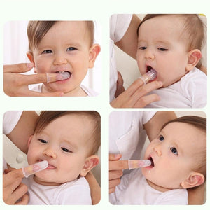 Soft Safe Silicone Baby Finger Toothbrush