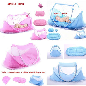 Portable Baby Mosquito Net Tent Crib  0-3 years (blue or pink)